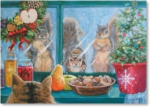 Holiday Card - Things get nutty this time of a year... | Joy Campbell | 2002993-P | Leanin' Tree