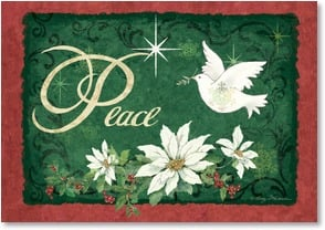 Christmas Card - May peace be your gift | Betty Whiteaker | 2002995-P | Leanin' Tree