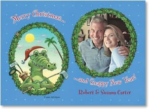 Christmas Card - Merry Christmas & Snappy New Year | Gary Patterson | 2003004-P | Leanin' Tree