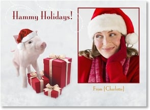 Holiday Card - Hammy Holidays! | Wild-Side Brands Ltd | 2003005-P | Leanin' Tree