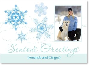 Holiday Card - Snowflakes in Blue | LT Studio | 2003007-P | Leanin' Tree