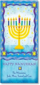 Hanukkah Card - Glowing Menorah | Bee Sturgis | 2003016-P | Leanin' Tree