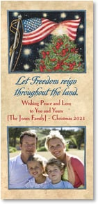 Christmas Card - Let Freedom Reign | Susan Winget | 2003017-P | Leanin' Tree