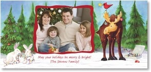 Holiday Card - Merry & Bright Holidays! | Winky Wheeler | 2003030-P | Leanin' Tree