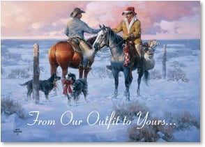 Holiday Card - With Friendly Greetings of the Season | Jack Sorenson | 2003035-P | Leanin' Tree