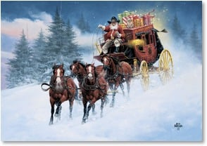 Christmas Card - Hopin' some joys head straight your way! | Jack Sorenson | 2003036-P | Leanin' Tree