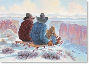 Christmas Card - Wishing you a long run of holiday fun! | Mike Scovel | 2003062-P | Leanin' Tree