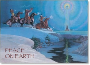 Christmas Card - Peace is your Gift and Treasure | Brummett Echohawk | 2003068-P | Leanin' Tree
