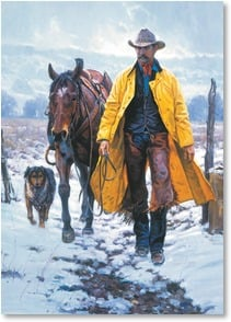 Christmas Card - Friends by your Side & Joy in your Heart | Martin Grelle | 2003072-P | Leanin' Tree
