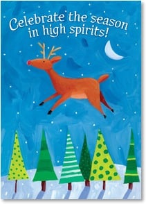 Holiday Card - Celebrate the season in high spirits! - 2003075-P | Leanin' Tree