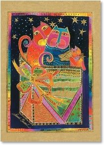 Holiday Card - Sending Bright and Merry Wishes! | Laurel Burch® | 2003084-P | Leanin' Tree