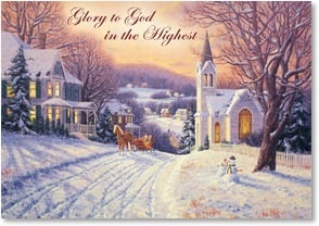 Christmas Card - May the bells ring out on Christmas Day | Randy Van Beek | 2003095-P | Leanin' Tree