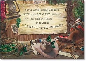 Christmas Card - Old Days, Old Times, Old Friends | Clayton Nicles | 2003098-P | Leanin' Tree