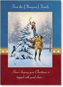 Christmas Card - Topped with Good Cheer; Psalm 128:5 | Jack Sorenson | 2003103-P | Leanin' Tree