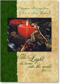 Christmas Card - Warmly Remembering You; John 3:19 | David R. Stoecklein | 2003105-P | Leanin' Tree