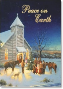 Christmas Card - The Blessings God Sends; John 1:16 | Keith Brown | 2003109-P | Leanin' Tree