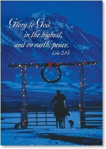 Christmas Card - A Heart Light with Gladness; Luke 2:14 | David R. Stoecklein | 2003111-P | Leanin' Tree