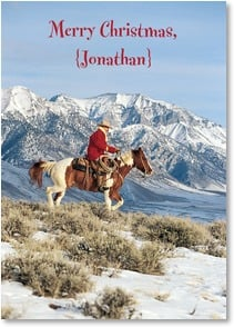 Christmas Card {Name} - May All Your Trails Be Happy; 2 Cor. 13:11 - 2003112-P | Leanin' Tree