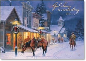 Christmas Card - Some Things Last Forever; Psalm 100:5 - 2003116-P | Leanin' Tree