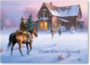 Christmas Card - The very finest Christmas gifts aren't found below the tree | Jack Sorenson | 2003120-P | Leanin' Tree