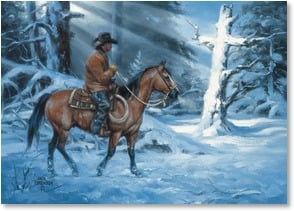 Christmas Card - May God's Love bring peace & joy to you. | Jack Sorenson | 2003125-P | Leanin' Tree