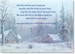 Christmas Card - May the trail rise up to meet you | Buck Teeter | 2003126-P | Leanin' Tree
