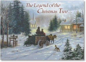 Christmas Card - The Legend of the Christmas Tree... - 2003127-P | Leanin' Tree