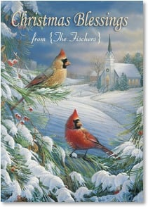 Christmas Card - Hope, Joy & Lasting Peace; Psalm 128:5 | Sam Timm | 2003141-P | Leanin' Tree