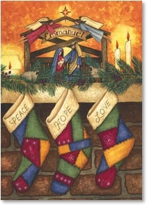 Christmas Card - God's Gifts Last Forever; Psalm 100:5 | Linda Spivey | 2003146-P | Leanin' Tree