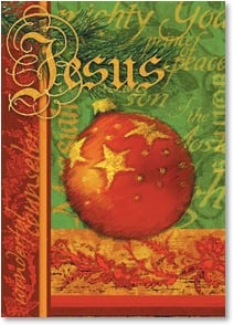Christmas Card - A Christ-filled Christmas; Hebrews 13:8 | Julie Ueland | 2003147-P | Leanin' Tree