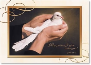Christmas Card - May God's peace be your gift at Christmas; John 14:27 | Nancy Howe | 2003164-P | Leanin' Tree