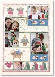 Christmas Card - With prayers for Christmas peace for you; Luke 2:14 | Sandi Gore Evans | 2003176-P | Leanin' Tree