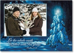 Christmas Card - May the True Meaning Shine; Psalm 72:19 | Allan Husberg | 2003188-P | Leanin' Tree