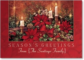 Christmas Card - May Christmas light your heart;John 3:19 | Sandy Bergeron | 2003195-P | Leanin' Tree