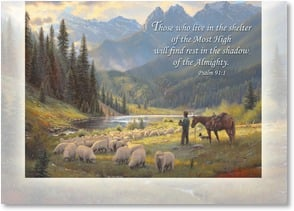 Sympathy Card - The Shelter of the Most High; Psalm 91:1 | Mark Keathley | 2003200-P | Leanin' Tree