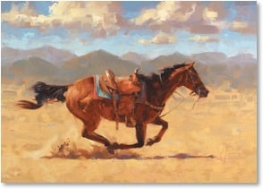 Get Well Card - Back in the Saddle Soon; Isaiah 40:31 | Jim Connelly | 2003202-P | Leanin' Tree