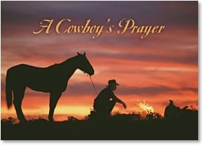 Blank Card with Scripture / Prayer - The Cowboy's Prayer - 2003205-P | Leanin' Tree
