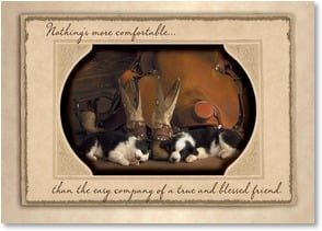 Friendship Card - The Company of a Friend; 1 Timothy 6:17 - 2003206-P | Leanin' Tree