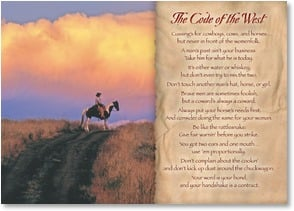 Blank Card with Scripture / Prayer - The Code of the West; 2 Samuel 2:6 - 2003208-P | Leanin' Tree