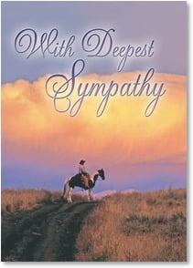 Sympathy Card - Not the End of the Trail; Isaiah 35:10 | Robert Dawson | 2003209-P | Leanin' Tree