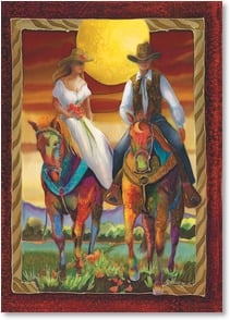 Wedding Card - Happy Trails Together; Psalm 118:24 | Nancy Dunlop Cawdrey | 2003216-P | Leanin' Tree