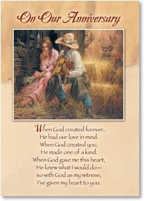 Anniversary Card - My Heart is Yours; 1 Corinthians 13:13 | Larry Fanning | 2003218-P | Leanin' Tree