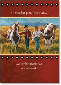 Friendship Card - The Fun Times We've Shared; Psalm 116:5 | Carla D'aguanno | 2003222-P | Leanin' Tree