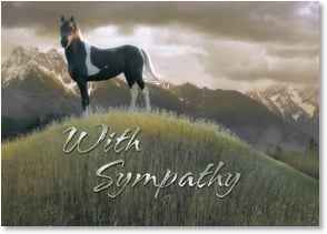Sympathy Card - Waiting at Trail's End; Numbers 6:24, 26 | Steve Hunziker | 2003233-P | Leanin' Tree
