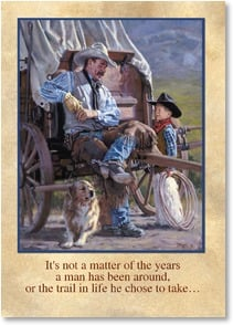 Birthday Card - It's Not a Matter of Years; Psalm 34:8 - 2003241-P | Leanin' Tree