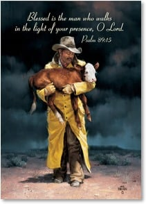 Birthday Card - An Admired Man of God; Psalm 89:15 | Jack Sorenson | 2003250-P | Leanin' Tree