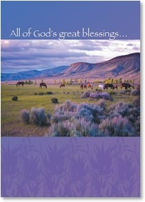 Birthday Card - A Heart as Great as the West; Psalm 92:5 | Steve Thornton | 2003252-P | Leanin' Tree