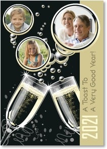 New Year's Day Card - Wishes For A Happy and Healthy New Year! | Brant Nicholason | 2003283-P | Leanin' Tree