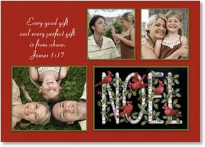 Christmas Card - We wish you a blessed Christmas; James 1:17 | Stephanie Stouffer | 2003302-P | Leanin' Tree