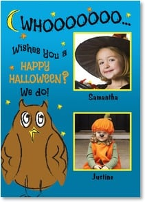 Halloween Card - WHOOOOOOO... Wishes You a HAPPY HALLOWEEN? We do! | LT Studio | 2003314-P | Leanin' Tree